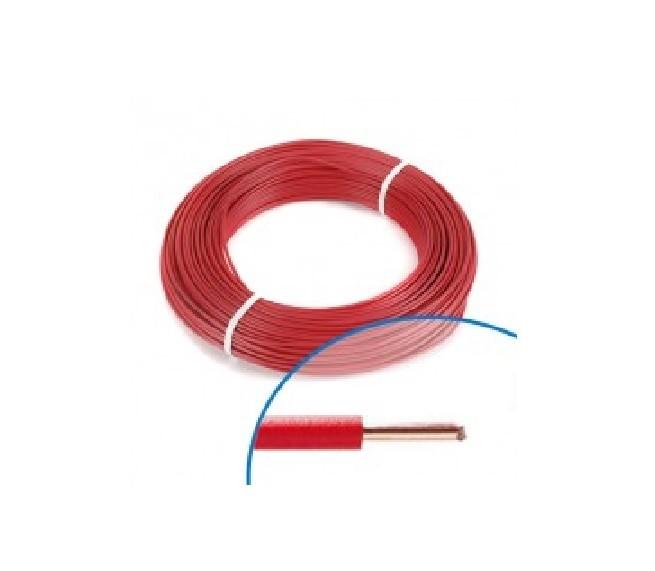 MIGUELEZ - Fil électrique rigide HO7VU 1.5 rouge Couronne de 100m - Ref Cab15r