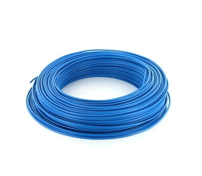 MIGUELEZ - Fil électrique rigide HO7VU 1.5 bleu Couronne de 100m - REF Cab15b