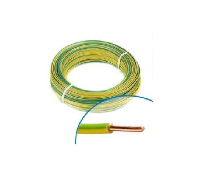 MIGUELEZ - Fil électrique rigide HO7VU 1.5 vert/jaune Couronne de 100m - Réf - Cab15V/J
