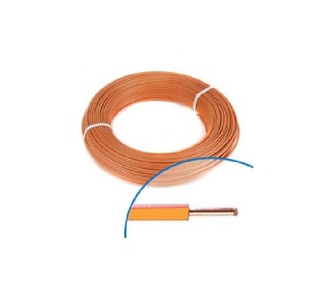 MIGUELEZ - Fil électrique rigide HO7VU 1.5 Orange Couronne de 100m - REF Cab15o