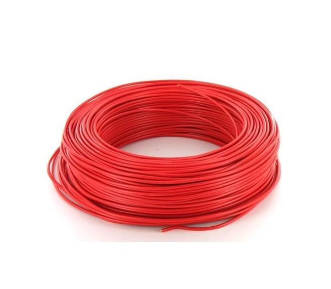 MIGUELEZ - Fil de câblage rigide H07VU 2.5 Rouge - REF Cab25r
