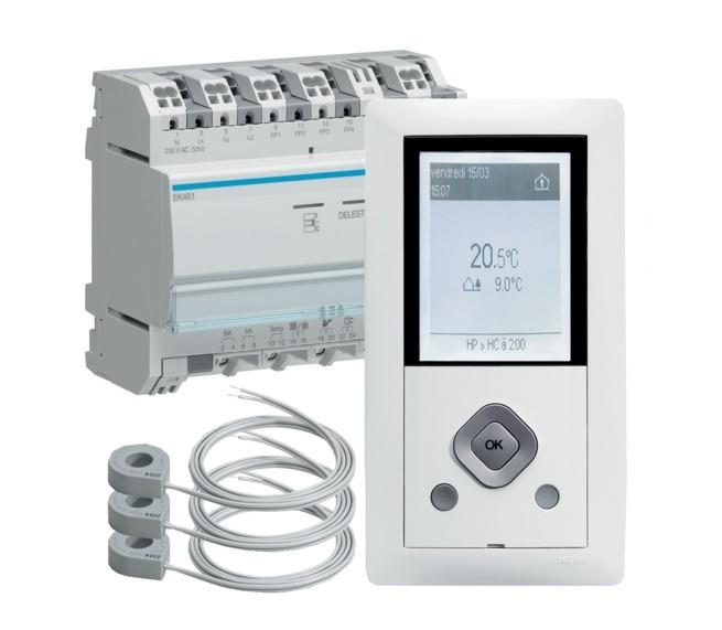 HAGER  - Gestionnaire énergie RT2012 chauffage électrique 1 Zone - Ref EK481