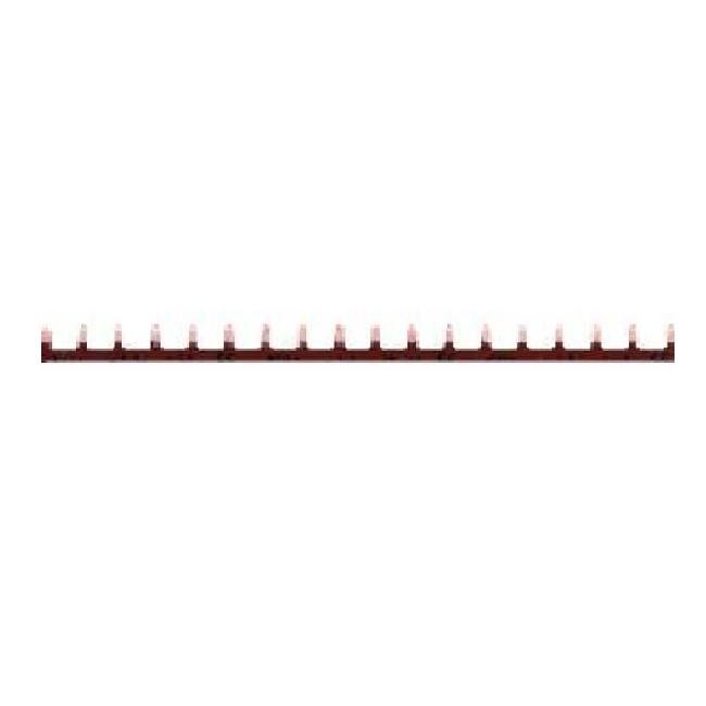 HAGER - Barre pontage 1P lang. 10mm marron 18M - Ref KB163PG