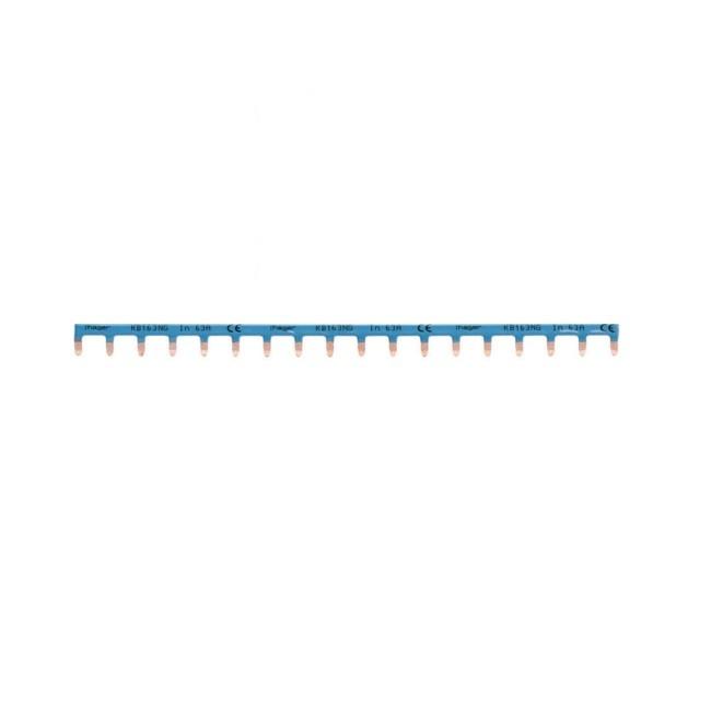 HAGER - Barre pontage 1P lang. 10mm Bleu 18M - Ref KB163NG