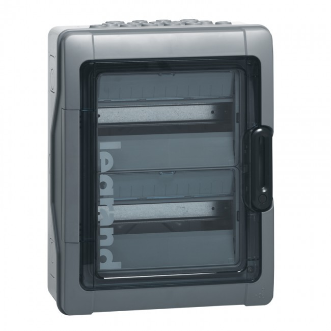 LEGRAND - Coffret Plexo 24 modules avec embouts à perf. directe - IP 65 - IK 09 - Gris - REF - 001922
