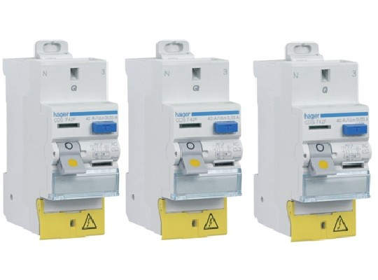 HAGER - LOT 3 Interrupteurs différentiels - 40A Typa AC - Réf - CDS742F