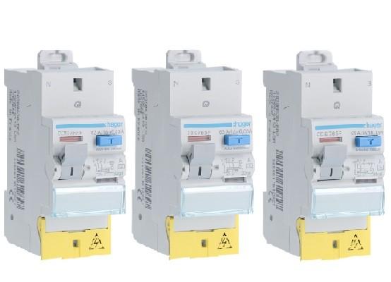 HAGER - LOT - 3 Interrupteurs différentiels Sans vIs - Bipolaire Type A - 63A - Ref CDS765F