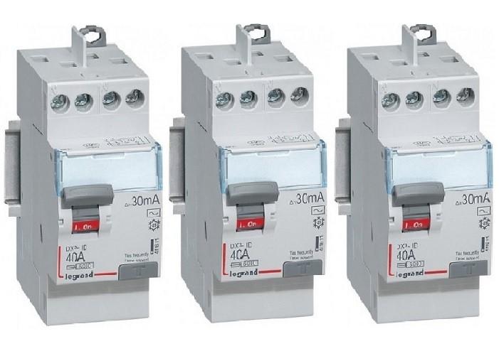 LOT - LEGRAND 3 Interrupteurs différentiels - 40A - REF 411611