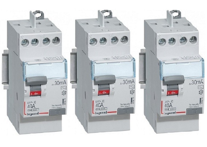 LOT LEGRAND - 3 Interrupteurs différentiels - 40A - 2 pôles - REF 411632