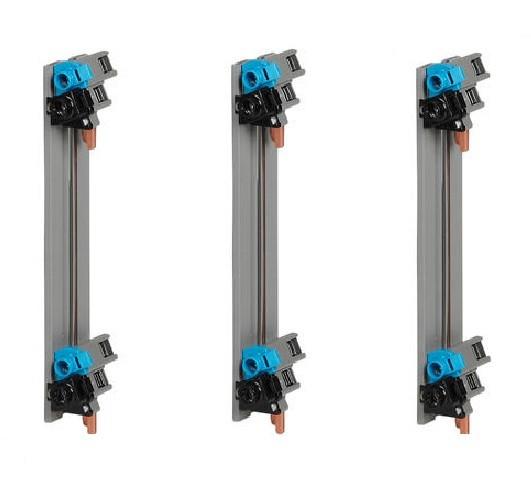 LOT - LEGRAND 3 Peignes Vertical 63A - Entraxe 125 mm pour coffret 2 Rangées ref 405000