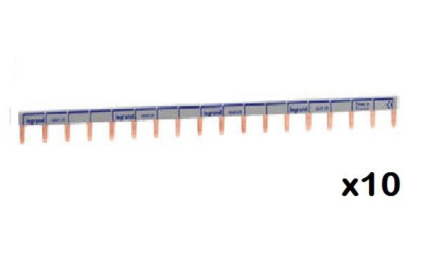 LEGRAND - LOT de 10 Peignes d\'alimentation HX - 1P - universel Ph + N ref 404928