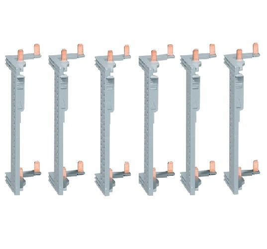 HAGER - LOT - 6 Peignes d\'alimentation Interrupteur Différentiel pr Coffret 2 rangées entr.axe 125 mm - Ref - KCN225