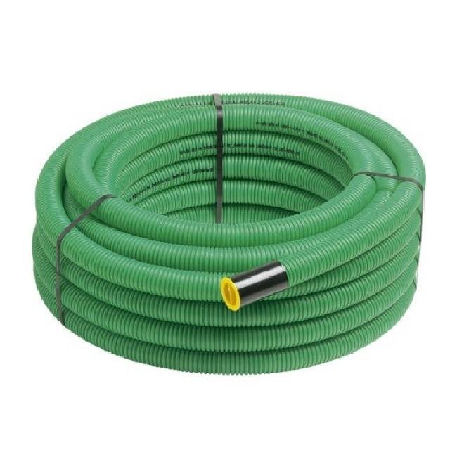Gaine pour réseaux enterrés - verte - Diam.40 mm - L.25 m Réf - 4025V