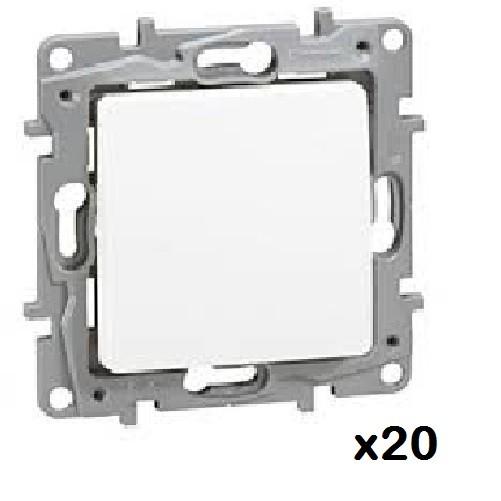LOT - LEGRAND - 20 Interrupteurs ou va-et-vient Niloé - 10 AX – 250 V~ ref 664701