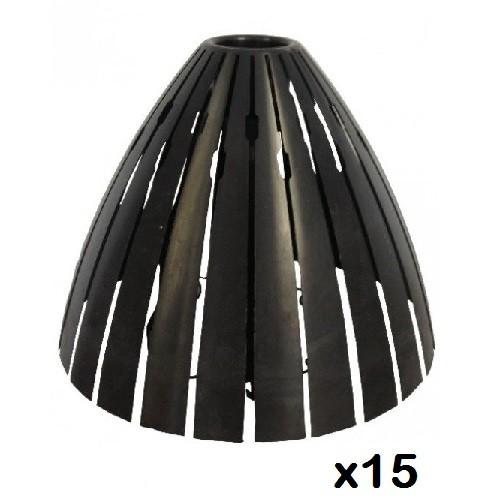 RAM - LOT de 15 Capots de protection spot laine soufflée - REF 59205