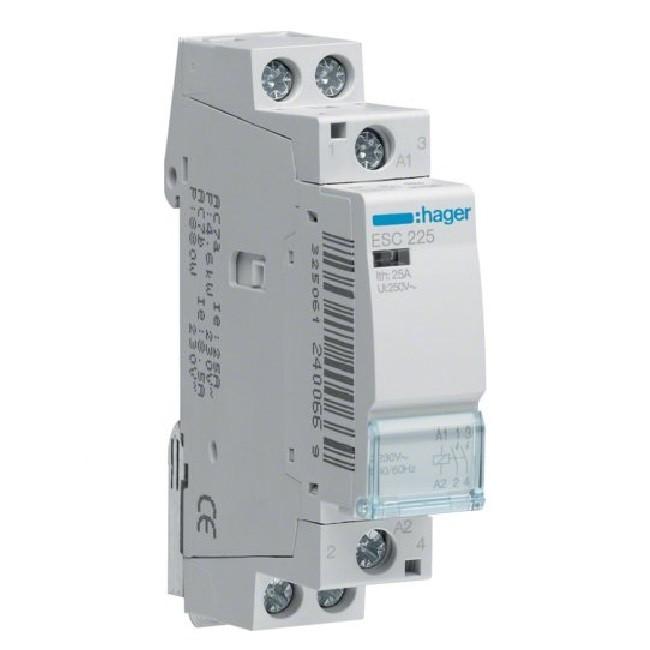 HAGER - Contacteur 25A - 2F - 230V - Ref ESC225