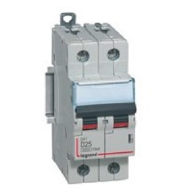 LEGRAND - Disjoncteur bipolaire 230/400V DX3 10A vis/vis 2P courbe C - REF 407782