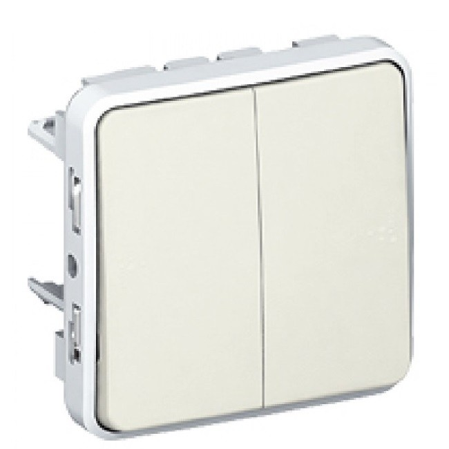 LEGRAND - Double va-et-vient Prog Plexo composable blanc - 10 AX - Ref 069625