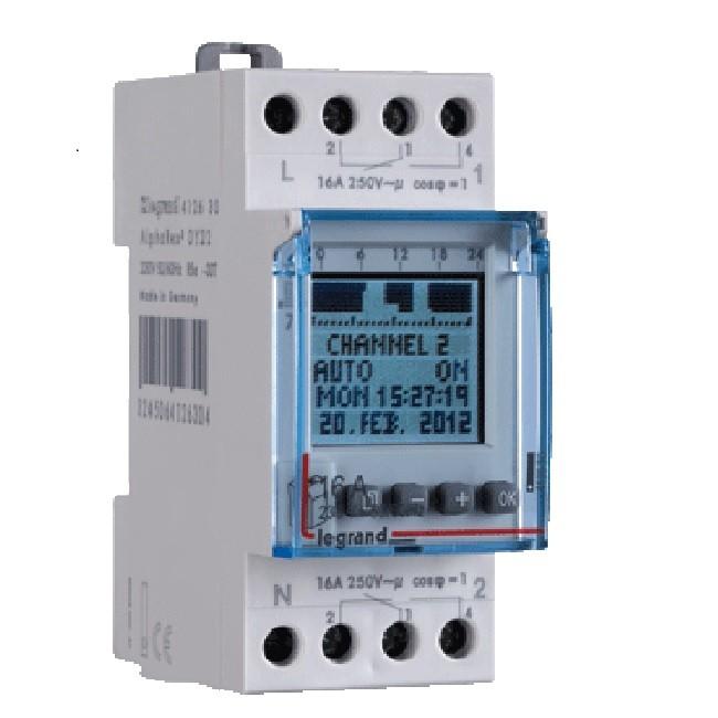 LEGRAND- Interrupteur horaire programmable digital - auto - multifonction -2 sorties 16A - 250v~ - ref 412641