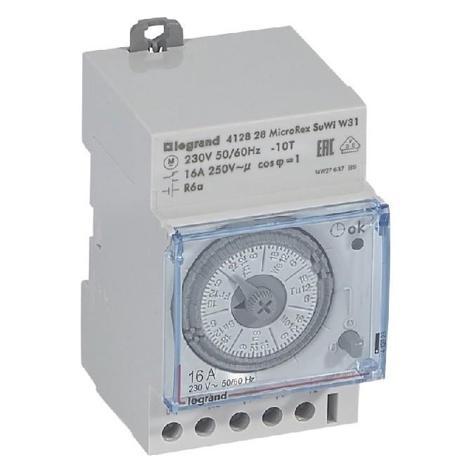 LEGRAND - Interrupteur horaire programmable analogique - auto - hebdomadaire - 3 mod - Ref 412828