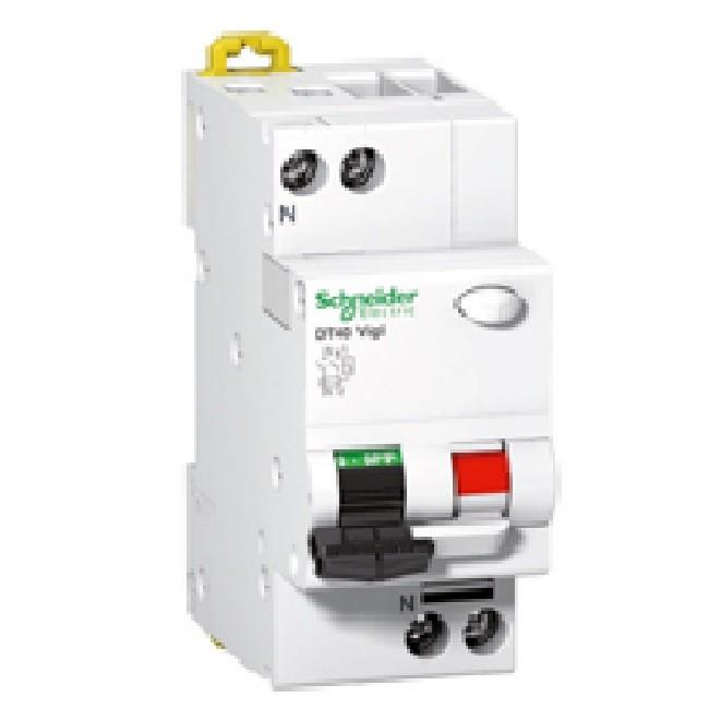 Schneider Electric - Prodis Dt40 Vigi Disjoncteur Différentiel 1p+n 20a, Type Ac, 30ma Courbe C, 6ka - REF - A9N21446