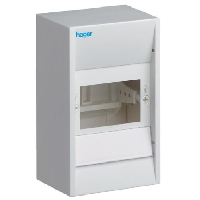 HAGER - Coffret cache-borne, 4 modules - Ref GD104A