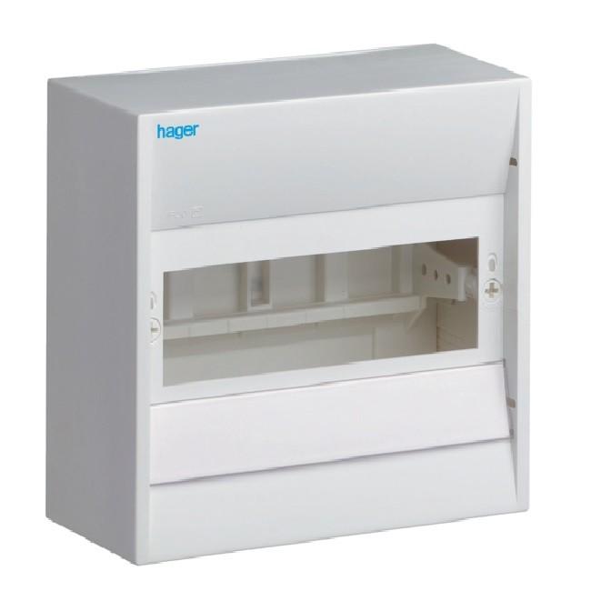 HAGER - Coffret cache-borne, 8 modules - Ref GD108A