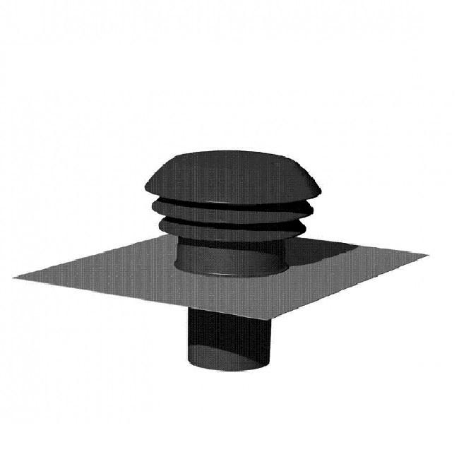THERMOR - Entrée / Sortie d\'air toiture grise Ø 160mm - Réf - 900375