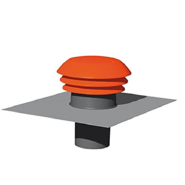 Thermor - Entrée / Sortie d\'air toiture rouge Ø 160 mm - ref 900376