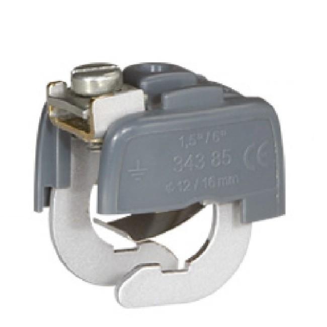 Connecteur de liaison équipotentielle Ø mini 28 mm - Ø maxi 32 mm avec Elecmarq