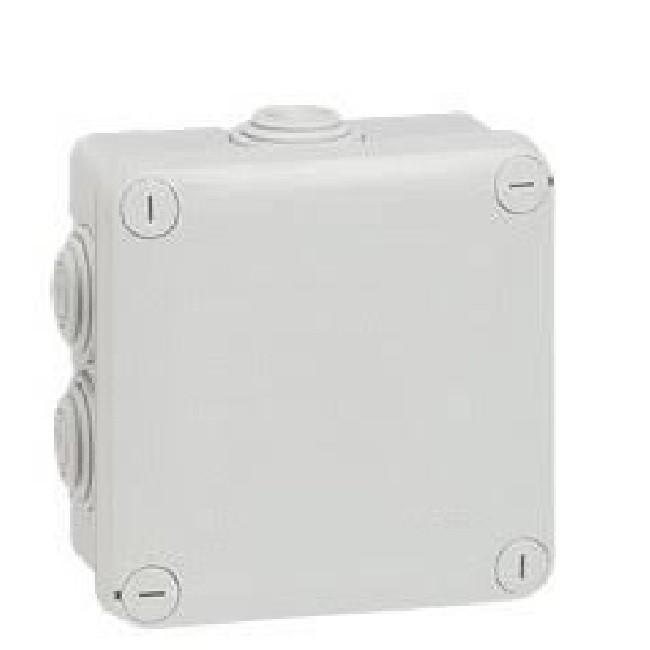 LEGRAND - Boîte carrée 105x105x55 étanche Plexo gris - embout (7) -IP55/IK07- 650C - Réf - 092022