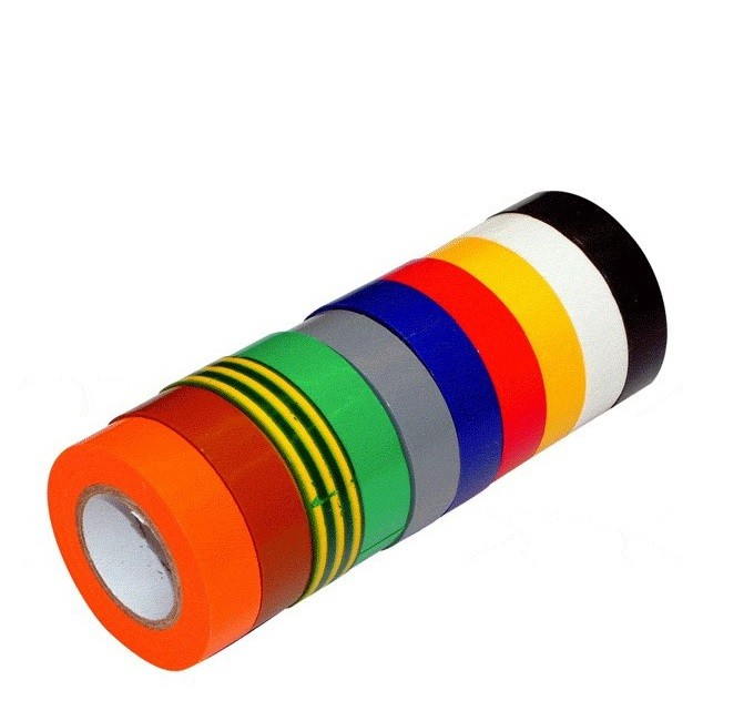 Ruban  adhésif PVC Isolant Panaché 10 couleurs avec Elecmarq