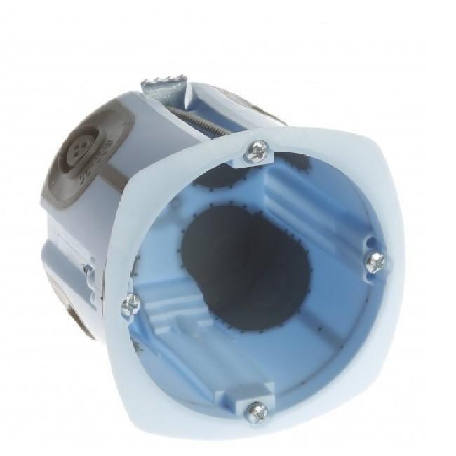 Eur\'Ohm - Boite d\'encastrement pour cloison sèche - XL Air\'Métic - 1 poste - Ø 67mm - Prof 50mm - REF 52063