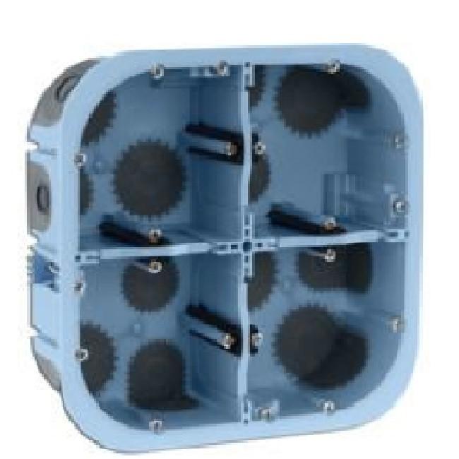 Eur\'Ohm - Boîte d\'encastrement XL AIR\'métic - 2X2 postes - profondeur 50 mm - REF 51017