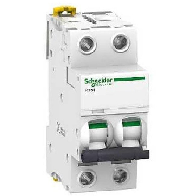 SCHNEIDER ELECTRIC - Disjoncteur 16 A - Acti9 - iC60N - 2P - Courbe C - A9F77216