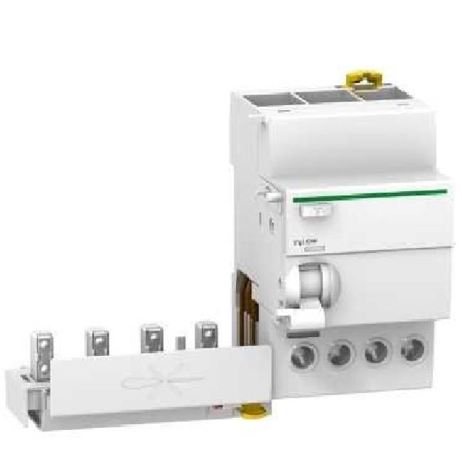 Schneider Electric - Acti9, Vigi iC60, bloc différentiel 4P 25A 30mA type AC 230-240V 400-415V - A9Q11425