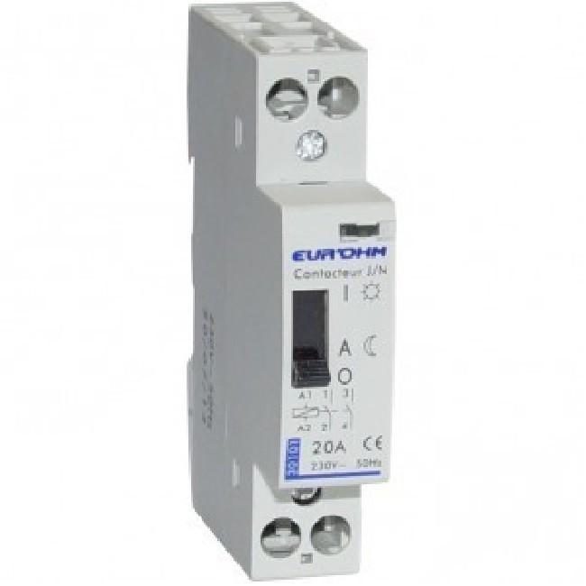 Eur\'ohm - Contacteur tarif heures creuses - 4P - 20 A - 4F- Réf 30111