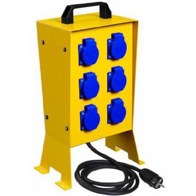 DIGITAL ELECTRIC - Coffret de chantier 6pc métallique + arrêt d\'urgence - Réf 31452