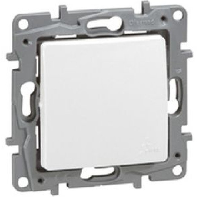 Legrand  - Poussoir NILOE - IP 44 6 A - NO-NF - pur - REF - 664725