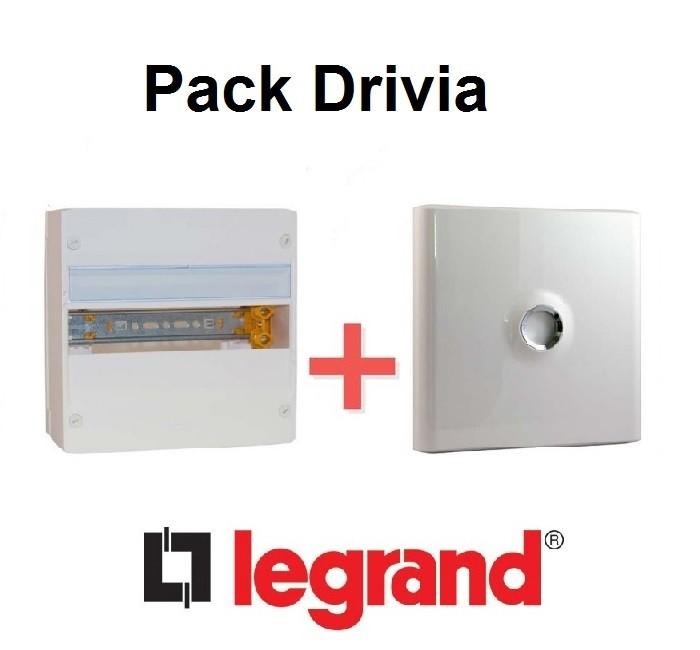 LEGRAND - Pack Drivia - Coffret + Porte -13 modules - 1 Rangées - REF - Drivia211
