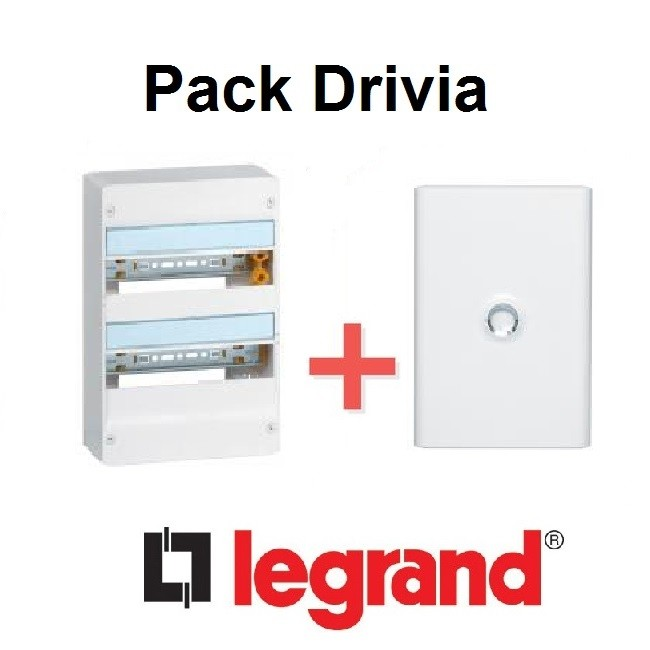 LEGRAND - Pack Drivia - Coffret + Porte -13 modules - 2 Rangées - REF - Drivia212