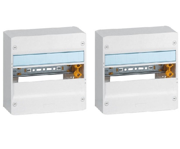 LEGRAND - Lot 2 Coffrets Drivia 13 modules - 1 rangée - IP30 - IK05 - Blanc RAL 9003 - REF 401211