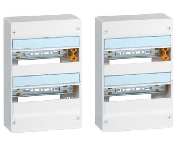 LEGRAND - Lot de 2 Coffrets Drivia 13 modules - 2 rangées - IP30 - IK05 - Blanc -  REF 401212