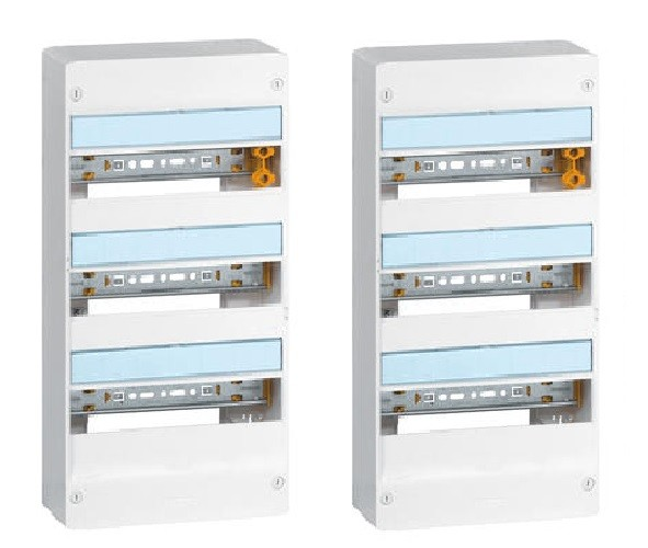 LEGRAND - Lot de 2 Coffrets Drivia 13 modules 3 rangées - IP30 - IK05 - Blanc - REF 401213