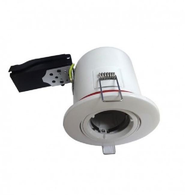 MIIDEX - Support spot Orientable BBC  100 mm + douille automatique - finition blanc - Réf - 7719