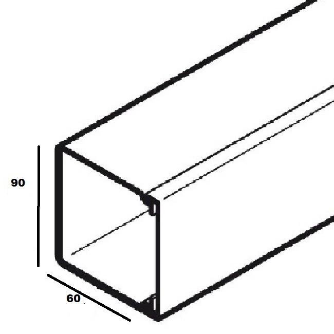 OBO - GOULOTTE LE 90X60 RAL 9010 - blanc pur - 2 mètres - REF - 6130093