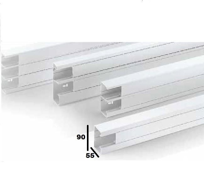 REHAU - Goulotte PVC Blanc - CLIDI 90X55 - 2ml - REF - 735800-100