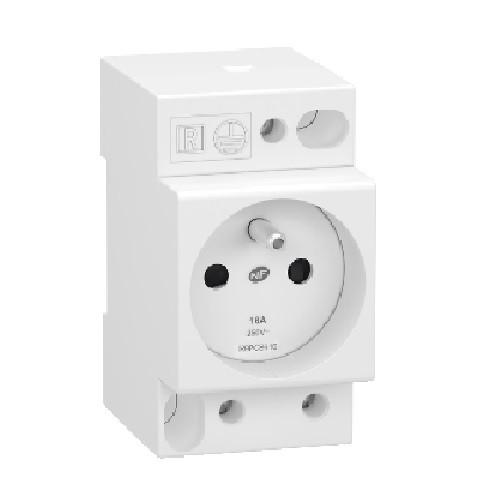 Schneider Electric - Resi9 XP - prise de courant - 2P+t - 250v - 16A - ref R9PCS616