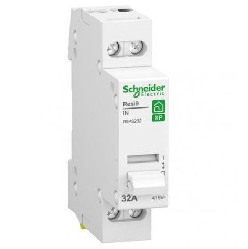 SCHNEIDER ELECTRIC - Resi9 XP - interrupteur sectionneur - 2P - 32A - 2NO - 250VCA - ref - R9PS232