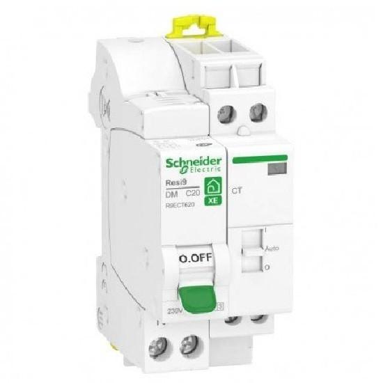 SCHNEIDER ELECTRIC - Resi9 XE - Combiné disjoncteur+contacteur - 1P+N - 20A - courbe C - embrochable - ref -  R9ECT620